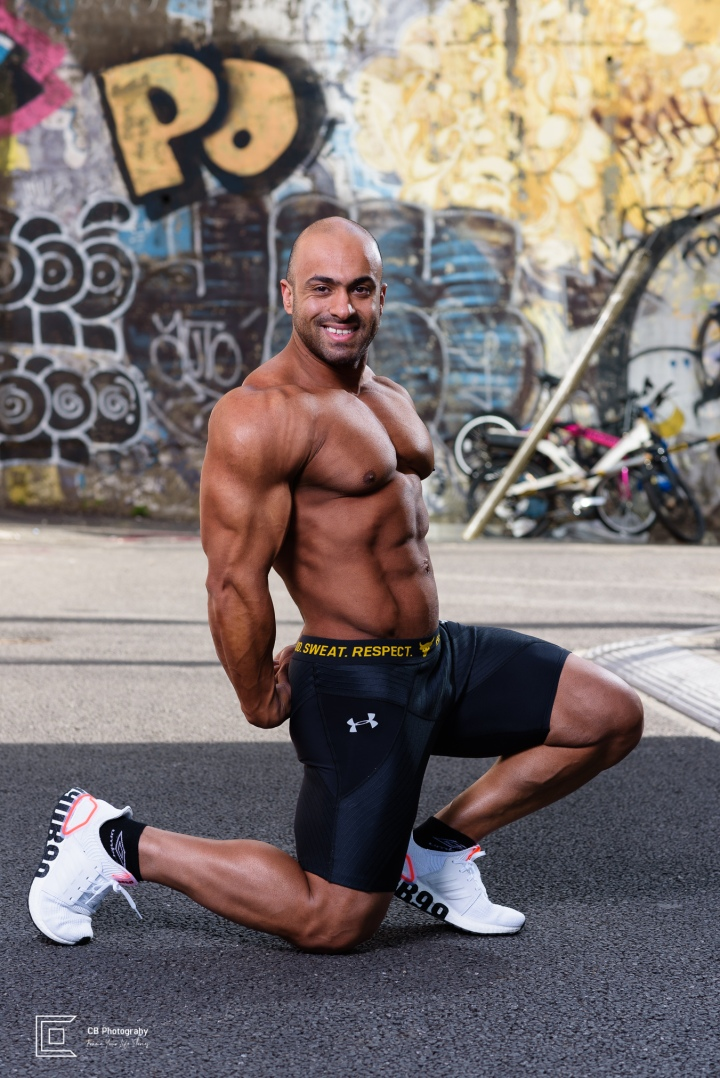 Professional Photography Session for a Bodybuilder