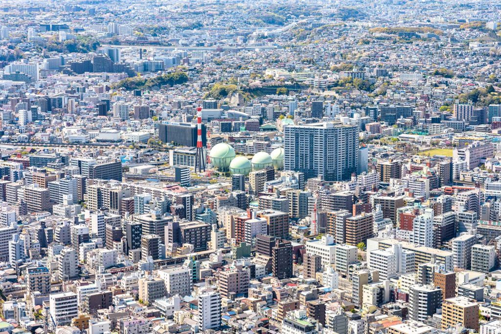 View over Yokohama; amazing how many constructions are, right? And all of them perfectly aligned.