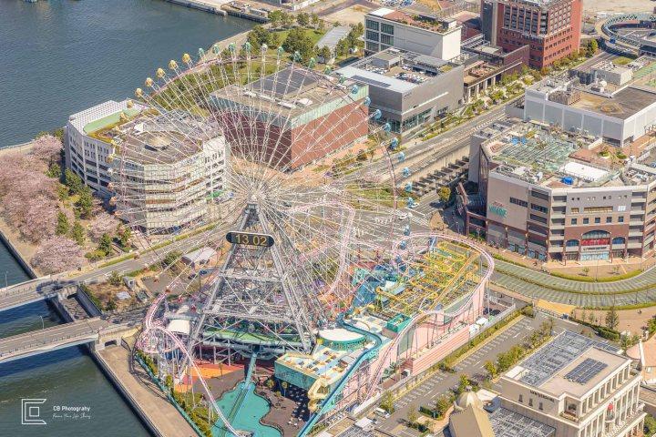 Ferris Wheel Yokohama seen from Landmark Tower