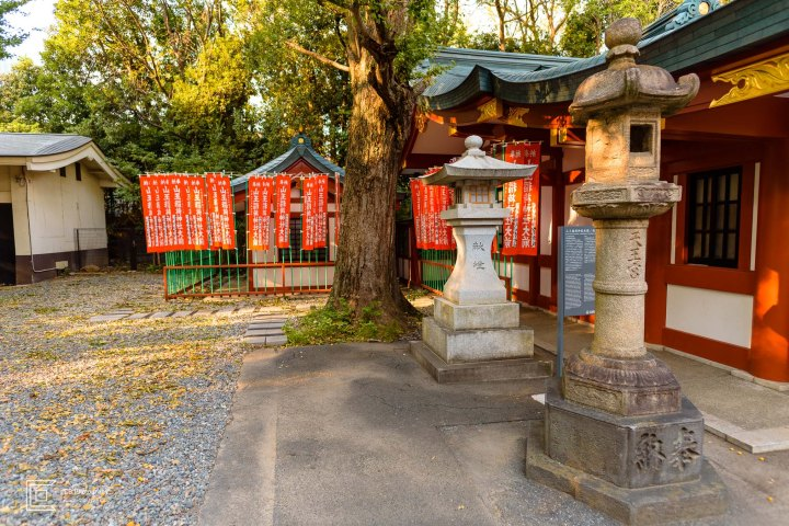 Stone Lanterns, Hie Shrine back side