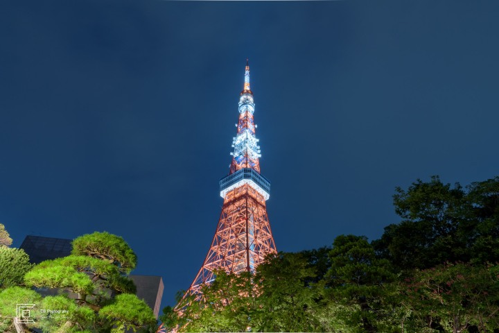 Tokyo Tower view during night time
