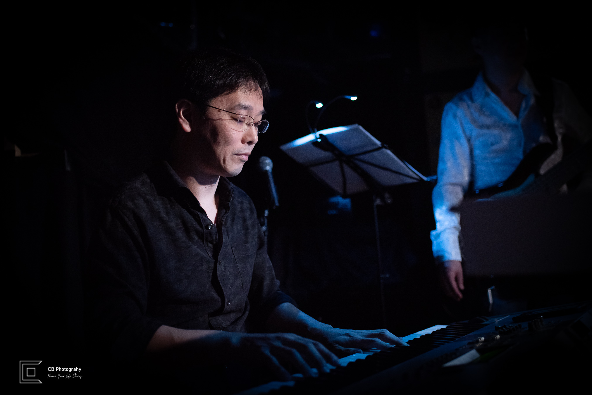 Keyboard player portrait during Catherine Forte Show