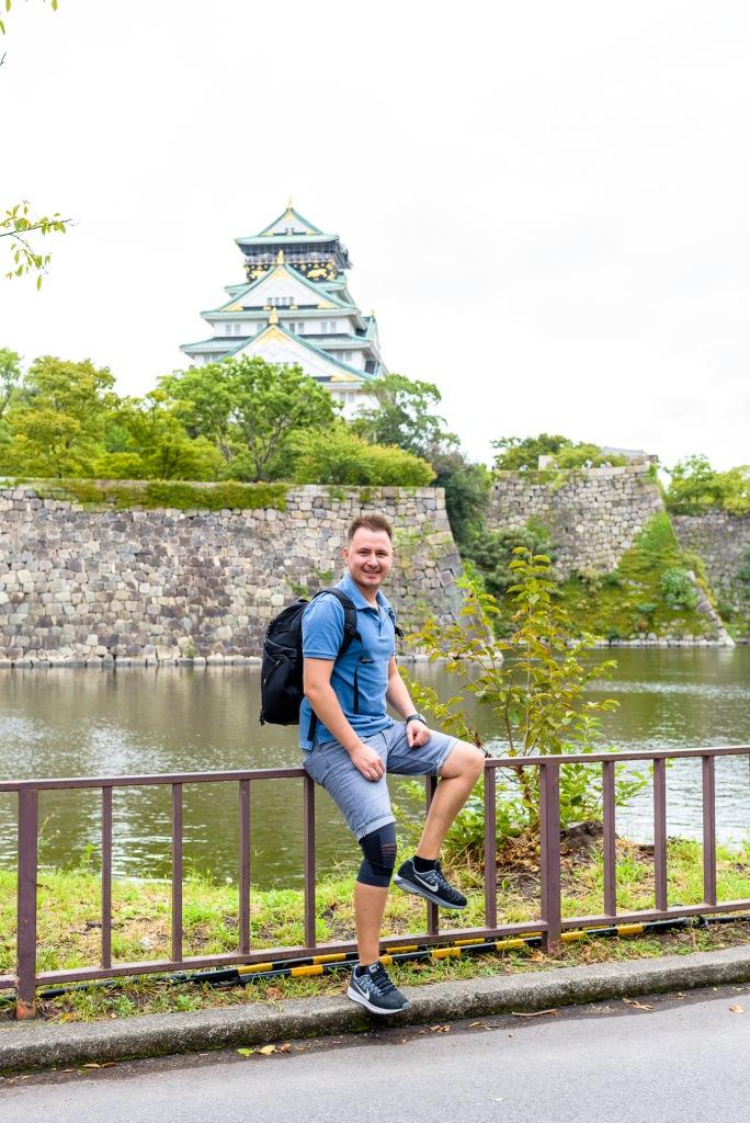 Cristian Bucur Photographer Portrait Osaka Castle in the Background