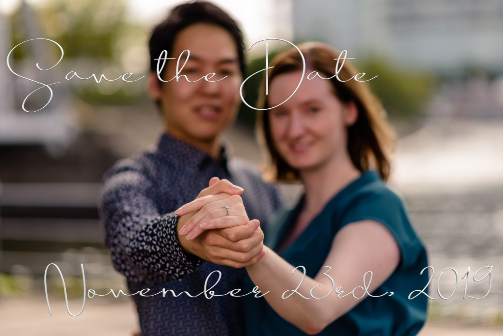 Save The Date design card for guests by Cristian Bucur Photographer in Tokyo Metropolitan Area