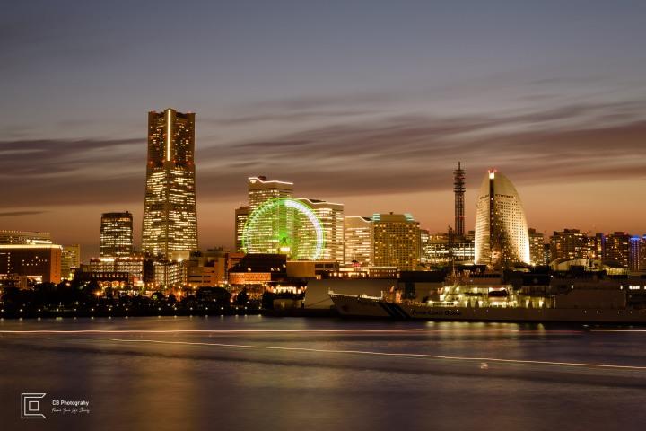 Sunset over Yokohama Skyline